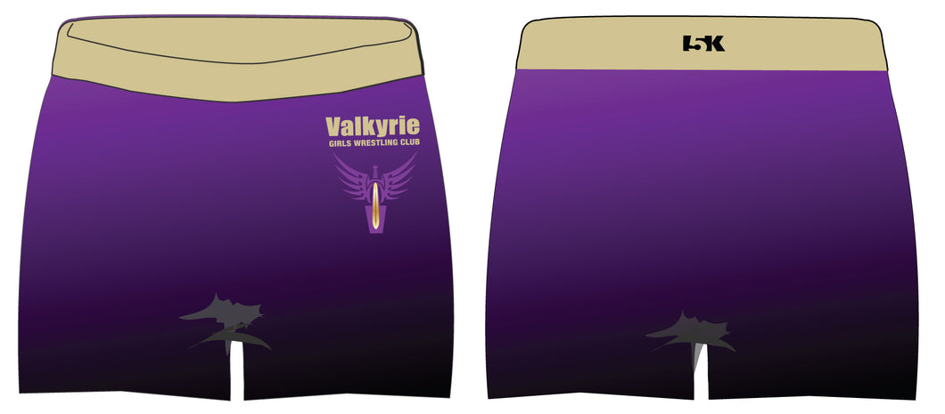 Valkyrie Girls Wrestling Sublimated Shorts - 5KounT