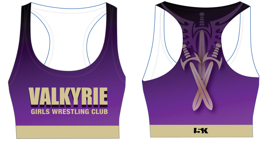 Valkyrie Girls Wrestling Sublimated Sports Bra - 5KounT2018