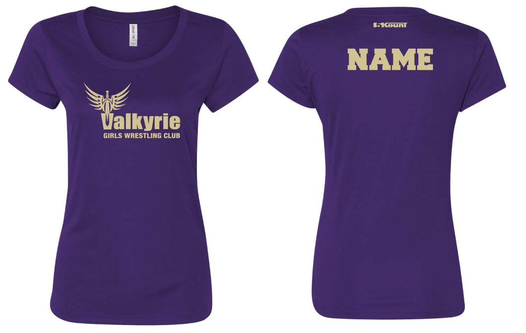 Valkyrie Girls Wrestling DryFit Performance Tee - Purple