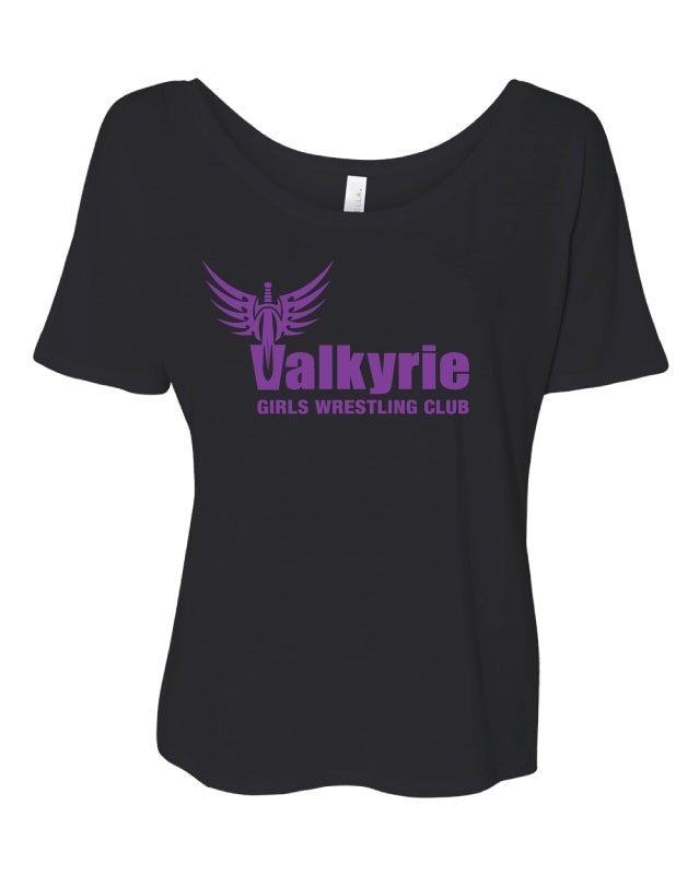 Valkyrie Girls Wrestling Women's Slouchy Tee - Black - 5KounT2018