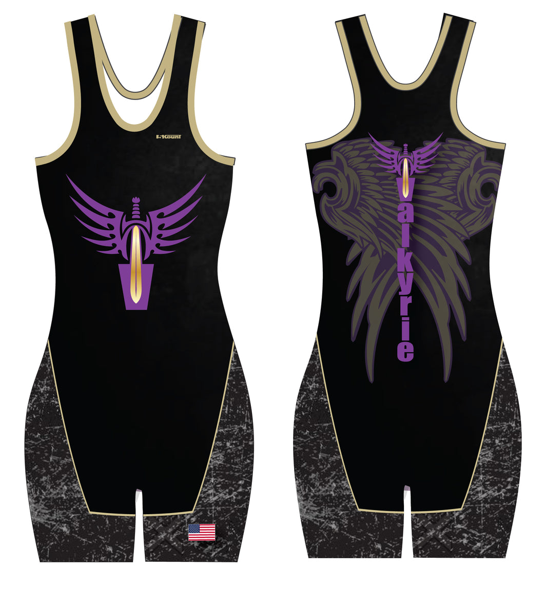 Valkyrie Girls Wrestling Sublimated Singlet - Black - 5KounT2018