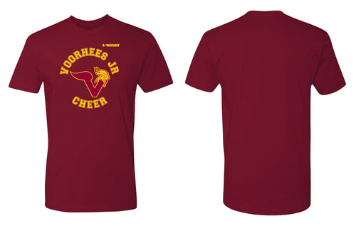 Voorhees Jr Cheer Cotton Crew Tee - Cardinal - 5KounT2018