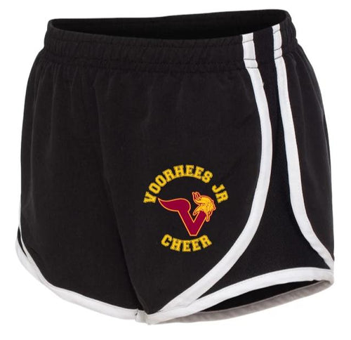 Voorhees Jr Cheer Youth Running Shorts - Black - 5KounT2018
