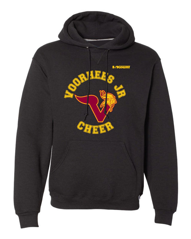 Voorhees Jr Cheer Russell Athletic Cotton Hoodie - Black