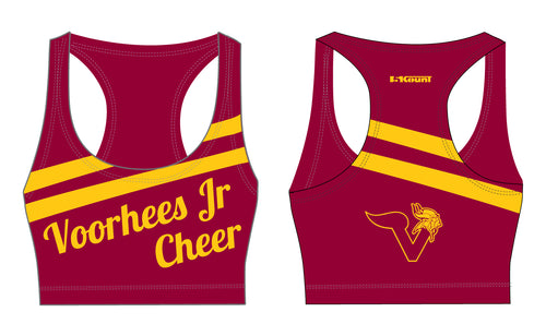 Voorhees Jr Cheer Sublimated Sports Bra - 5KounT2018