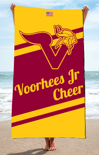 Voorhees Jr Cheer Sublimated Beach Towel - 5KounT2018