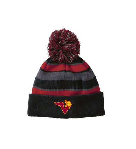 Voorhees Jr Cheer Pom Beanie - Black/Scarlet/Graphite - 5KounT2018