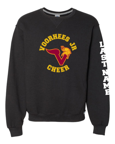 Voorhees Jr Cheer Russell Athletic Cotton Crewneck Sweatshirt - Black - 5KounT2018