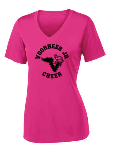 Voorhees Jr Cheer Women's V-Neck Dryfit - Pink - 5KounT2018