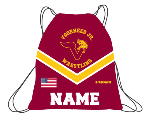 Voorhees Jr Wrestling Sublimated Drawstring Bag