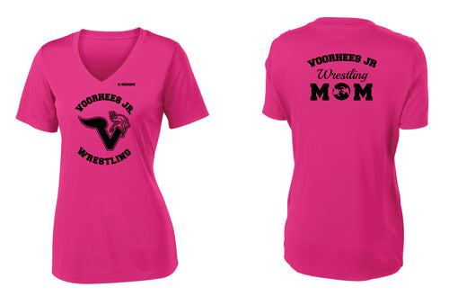 Voorhees Jr Wrestling Wrestling Women's V-Neck Dryfit Tee - Pink Raspberry