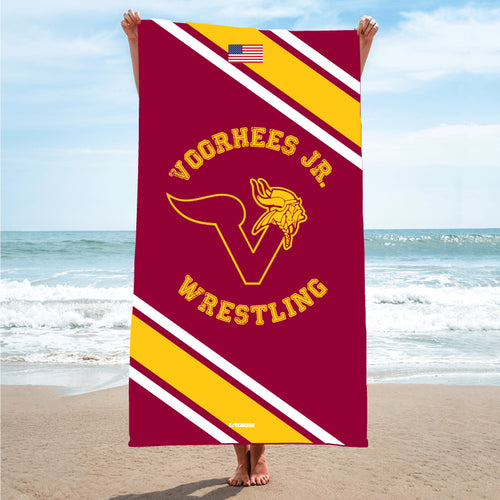 Voorhees Jr Wrestling Sublimated Beach Towel