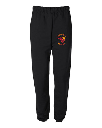 Voorhees Jr Wrestling Cotton Sweatpants - Black