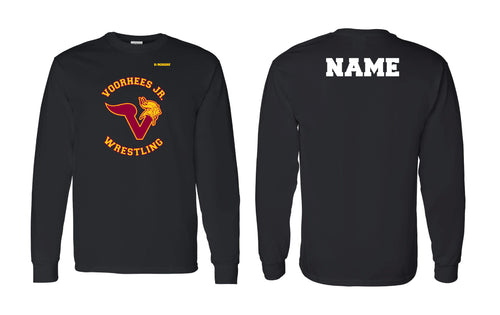 Voorhees Jr Wrestling Cotton Long Sleeve - Black