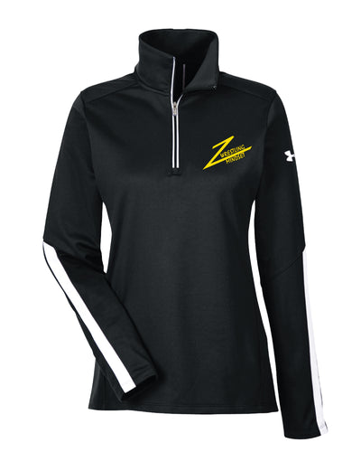 Wrestling Mindset Under Armour Ladies' Qualifier 1/4 Zip - Black