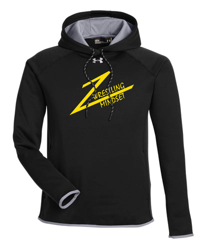 Wrestling Mindset Under Armour Men's Double Threat Armour  Fleece Hoodie - Black