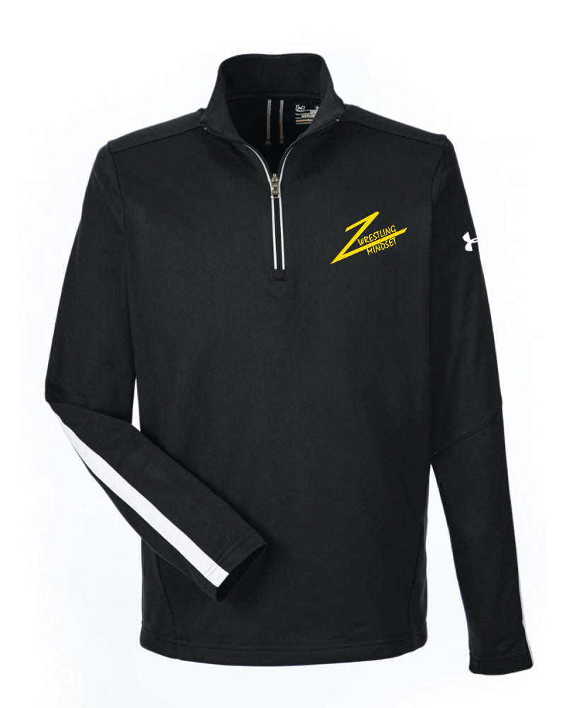 Spiritual Strenght Mindset Under Armour Men's Qualifier 1/4 Zip - Black