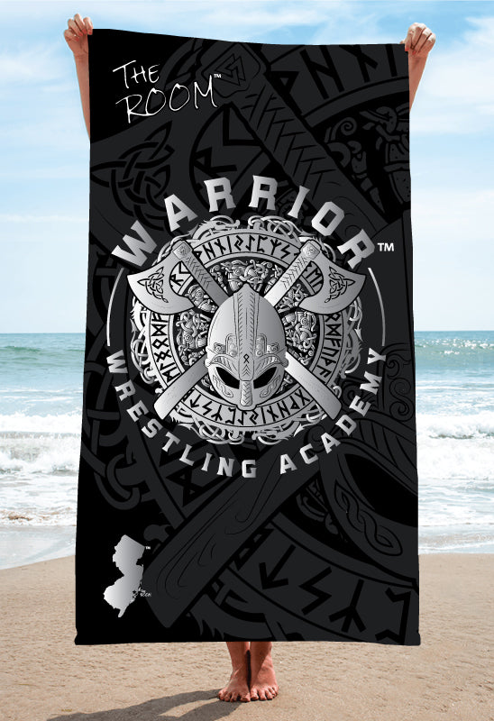 Warriors Wrestling Academy Sublimated Beach Towel