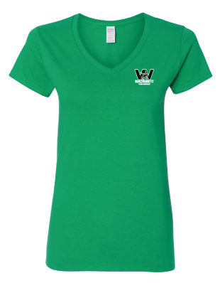 Wachusett Women's Cotton V Neck Tee - Green