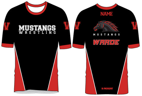Warde Mustangs Sublimated Fight Shirt