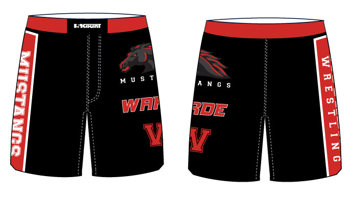 Warde Mustangs Sublimated Fight Shorts