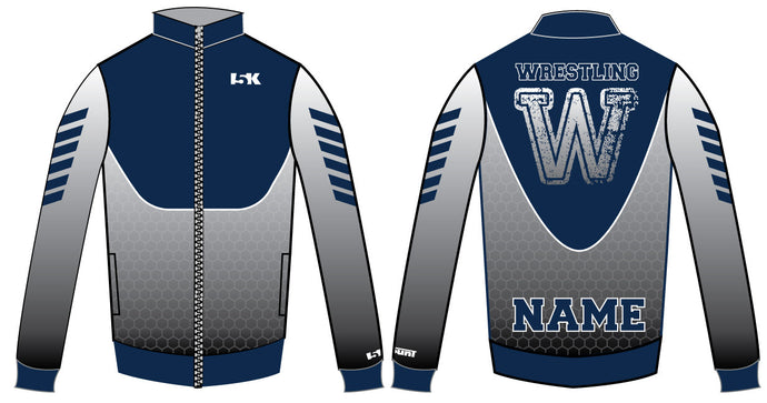 5Kount Sublimated Warmup Jacket - Dynamic Navy