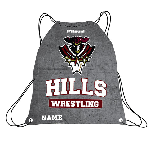 Wayne Hills Sublimated Drawstring Bag