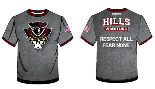 Wayne Hills Respect All Fear None Sublimated Fight Shirt - 5KounT2018