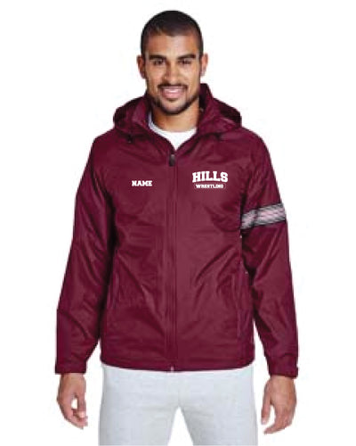 Wayne Hills All Season Hooded Jacket - Maroon - 5KounT