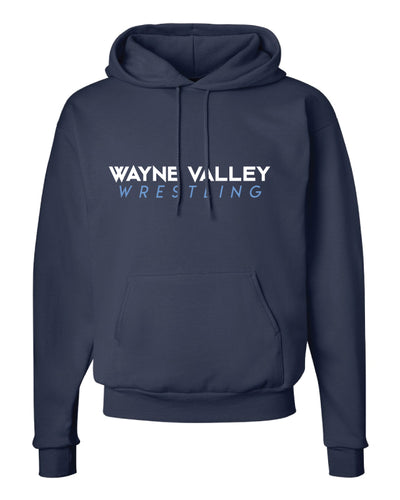 Wayne Valley Wrestling Cotton Hoodie - Navy