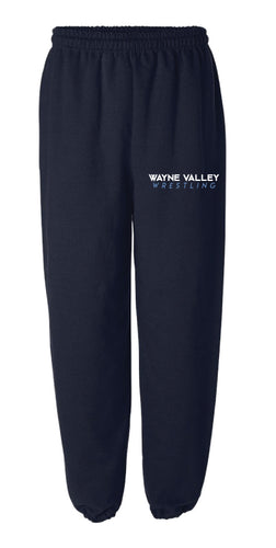 Wayne Valley Wrestling Cotton Sweatpants- Navy