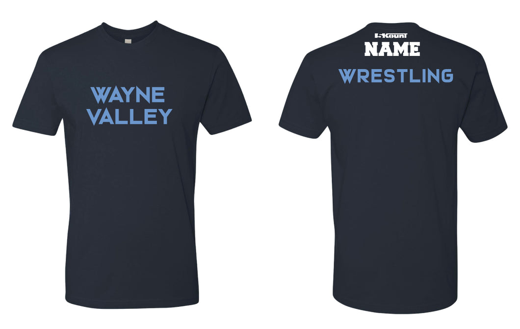 Wayne Valley Wrestling Unisex Cotton Crew Tee - Navy - 5KounT2018