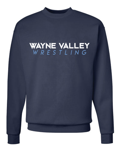 Wayne Valley Wrestling Crewneck Sweatshirt - Navy