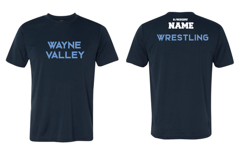 Wayne Valley Wrestling Unisex DryFit Performance Tee - Navy