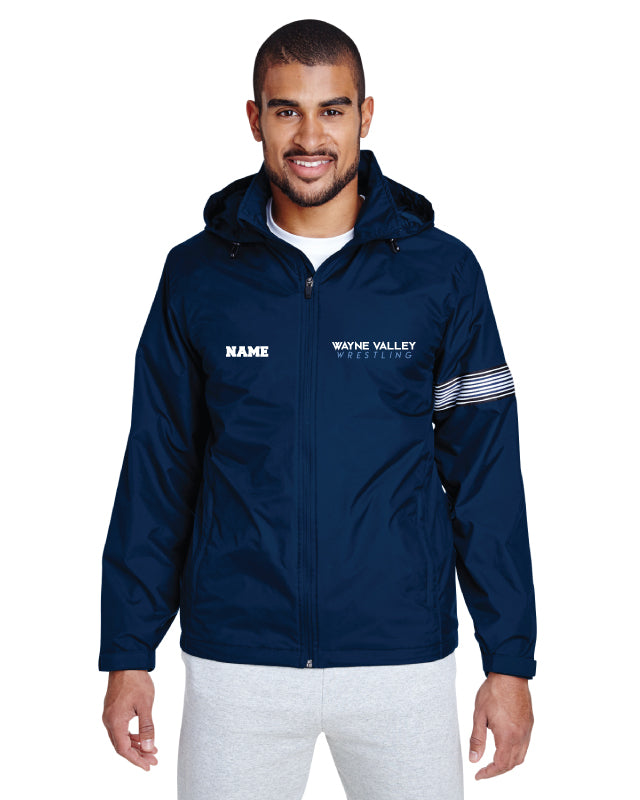 Wayne Valley Wrestling All Season Hooded Jacket - Navy
