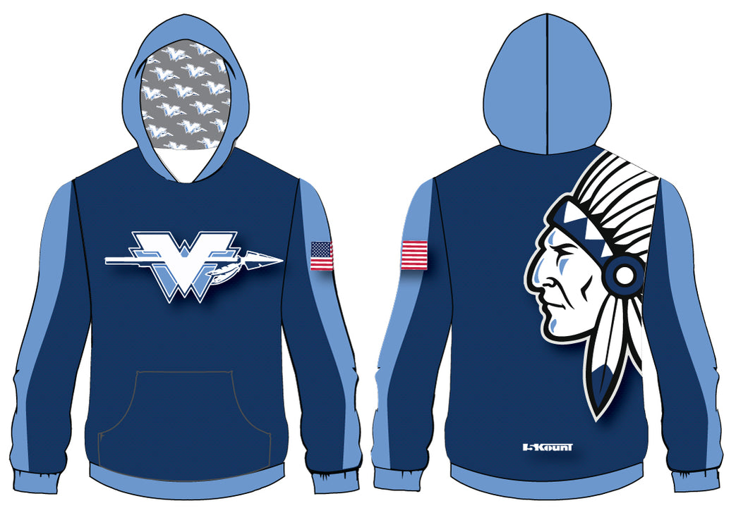 Wayne Valley Wrestling Sublimated Hoodie - 5KounT2018