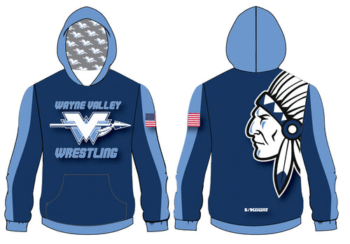 Wayne Valley Wrestling Sublimated Hoodie