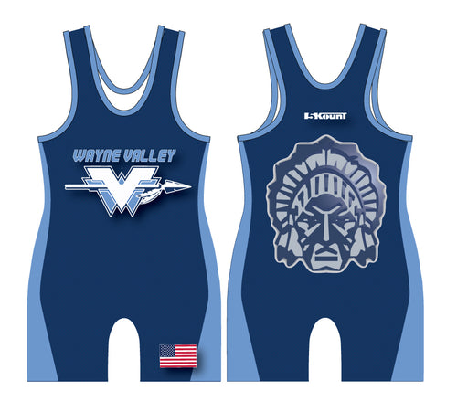 Wayne Valley Wrestling Sublimated Singlet