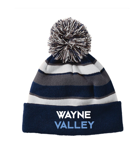 Wayne Valley Wrestling Pom Beanie - Navy