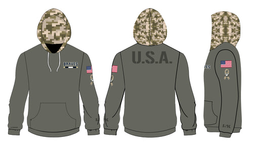 Braves Salute To Military  Sublimated Hoodie