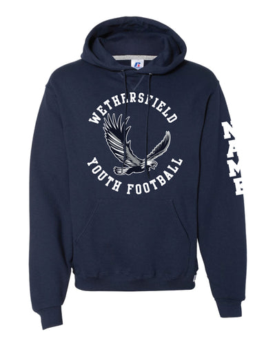 Wethersfield Eagles Football Russell Athletic Cotton Hoodie Navy/Gray