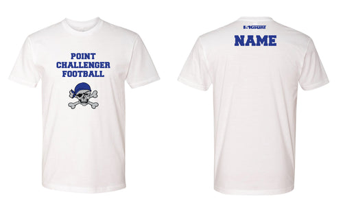 Challenger Football Cotton Shirt - White/Royal - 5KounT