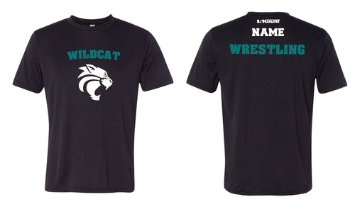 Royal Palm Beach Wildcat DryFit Performance Tee - Blak