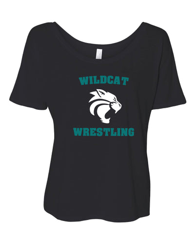 Royal Palm Beach Wildcat Women's Slouchy Tee - Black