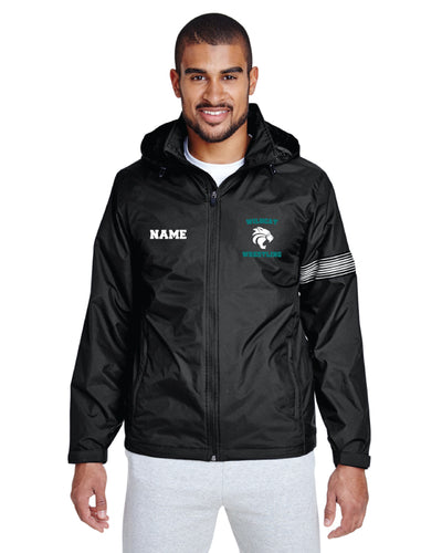 Royal Palm Beach Wildcat Unisex All Season Hooded Jacket - Black
