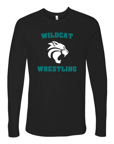 Royal Palm Beach Wildcat Unisex Long Sleeve Cotton Crew - Black