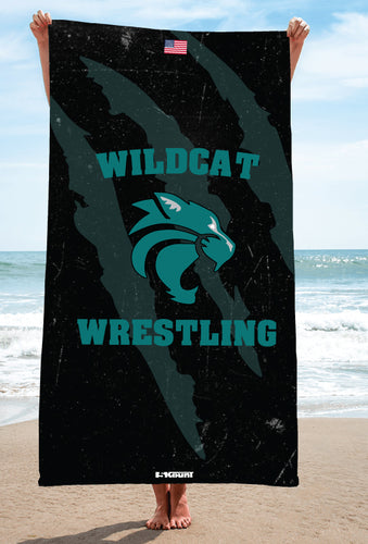 Royal Palm Beach Wrestling Sublimated Beach Towel