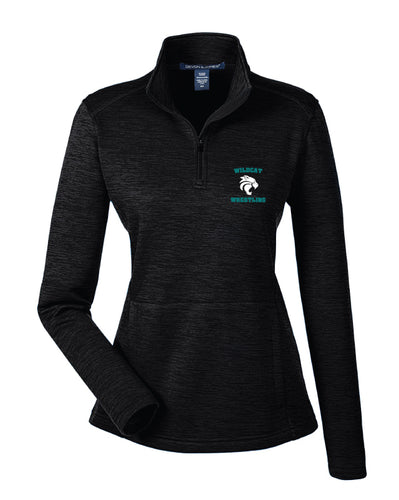 Royal Palm Beach Wildcat Wome's Fleece Quarter Zip - Black