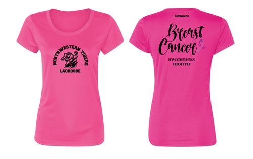 Northwestern Lacrosse Women's DryFit Performance Tee - Sport Charity Pink