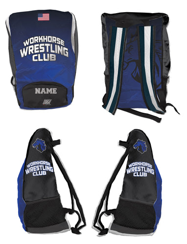 Workhorse Wrestling Club Sublimated Backpack - 5KounT2018